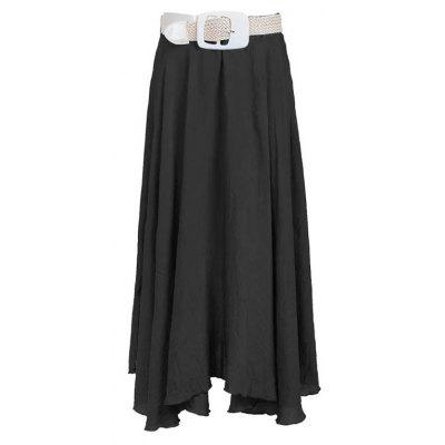 Women's Summer Silk Cotton Long Pleated Beach Skirt