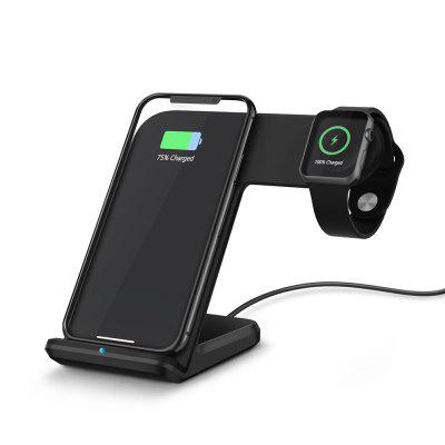 Qi Wireless Fast Charger Holder Stand for Watch 3 2/SAMSUNG S9/IPHONE 8 Plus/X