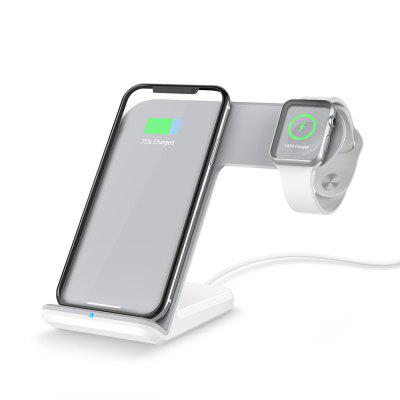 Qi Wireless Fast Charger Holder Stand for Watch 3 2/SAMSUNG S9/IPHONE 8 Plus/X universal qi wireless charger for cellphone white