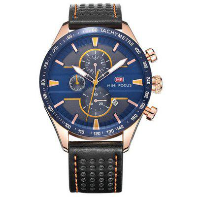 MINI FOCUS Famous Top Brand Men Quartz Leather Business Wrist Watch