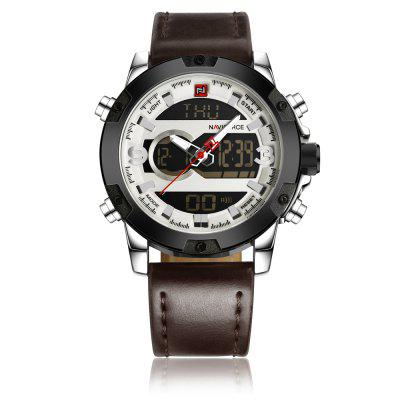 Mens Analog Digital Leather Sports Army Military Quartz Clock Watches top brand curren men s quartz watches men fashion wristwatch casual sports canvas clock male army analog relojes hombre 2017