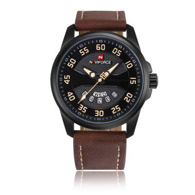 Men Fashion Casual Quartz Clock Leather Strap Army Military Sports Wrist Watch naviforce hot sales business men quartz watch fashion casual mens wristwatch steel hour male clock waterproof relogio masculino