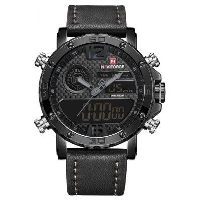 Men's Quartz LED Digital Clock Waterproof Military Wrist Watch