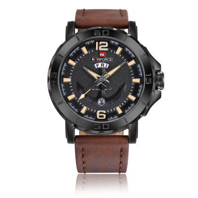 Men Leather Strap Quartz Clock Sports Military Wrist Watch migeer cheap watches for women men top brand pu leather business quartz wrist watch men s sports clock relogio masculino zer