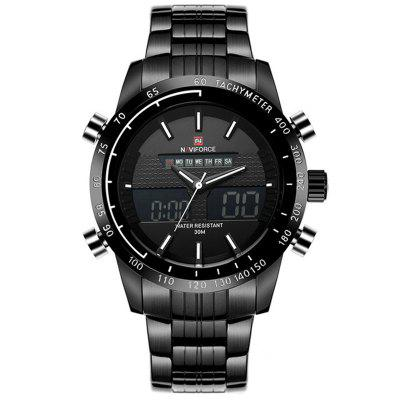Men Quartz Watch Full Steel Digital LED Army Military Sport Watches weide watches men luxury brand sport army military watch japan quartz lcd display rubber band stainless steel back wristwatches