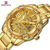 Men Fashion Waterproof Quartz Military Stainless Steel Sports Watches - GOLD