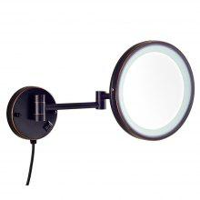 Round Shape Wall Mounted Led Cosmetic Mirror