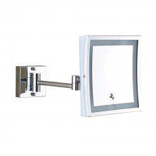 Square Shape Single Side Magnifying Bathroom Makeup Mirror