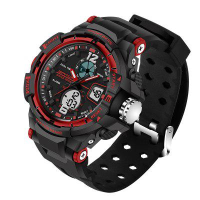 SANDA Male LED Fashion Sport Military Wristwatches