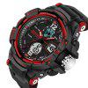 SANDA Male LED Fashion Sport Military Wristwatches - RED