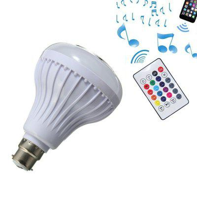 Smart Bluetooth 4.0 Music Speaker Lamp LED Bulb B22 Intelligent Light for Party
