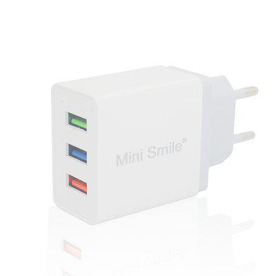 Minismile Universal 5V 2.4A Fast Charge 3 USB Port Home USB Power Travel Charger