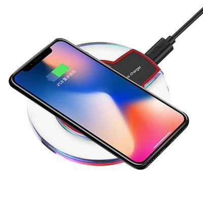 Minismile Ultra-thin Qi Standard Wireless Charger for iPhone X / 8 / 8 Plus universal qi wireless charger for cellphone white