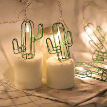 Cactus Shaped 1.5M 10 LED Fairy String Light for Home Decoration