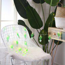 Cactus Potted Plant 1.5M 10 LED Fairy String Light for Home Decoration