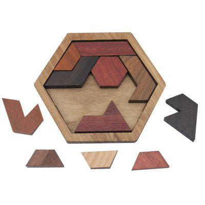 Funny Puzzles Wood Geometric Abnormity Shape Puzzle Wooden Toy