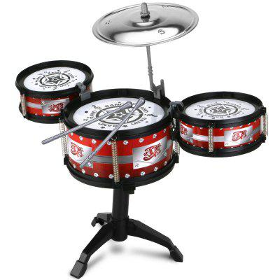 Children Drum Set Percussion Instruments Early Education Music Toys 1 snare drum 3 tom tom four drum electric drum kit musical instruments free shipping