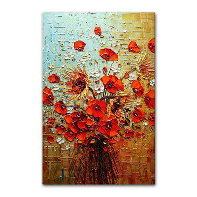 Фото STYLEDECOR Modern Hand Painted Abstract Knife Painting Flowers Oil Painting