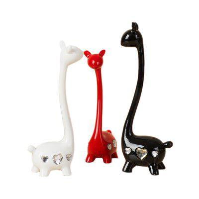 1 Set Home Resin Craft Gift Creative Romantic Deer Ornaments resin assembly kits 1 9 200mm police girl 200mm unpainted kit resin model free shipping