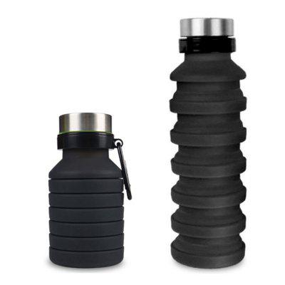 550ML Outdoor Sports Bottle Hiking Travel Portable Silicone Folding Cup
