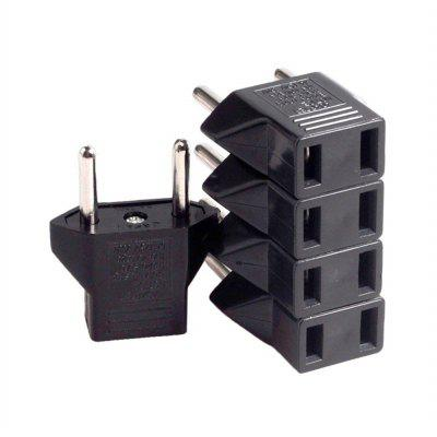 5 PCS  6A US Socket to EU Plug Power Adapter / Charger Kit