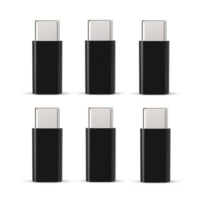 6 PCS Type-C Para Micro USB Data Charging Adapter Converter