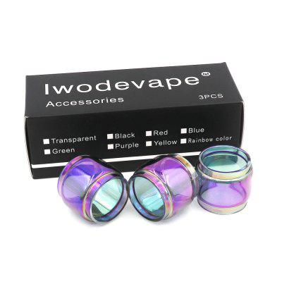 Original Iwodevape E-Cig Accessories Manta RTA Rainbow Fat Glass Tube 3pcs original ud ez rta tank