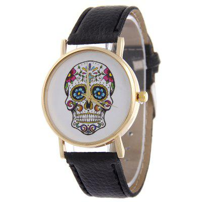 Simple Casual Personality Skull Belt  Watches