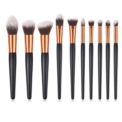 10PCS Beauty Makeup Kit Eyeshadow Powder Face Make Up Brush Set