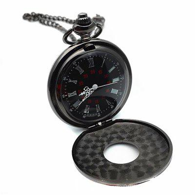 Roman Pattern Steampunk Retro Vintage Quartz Numerals Pocket Watch unisex bronze vintage retro copper watch men alloy mechanical pocket watch with metal chain steampunk watch roman pjx1040