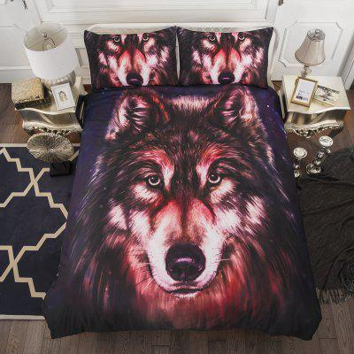 High Quality Creative 3D Red Wolf Three-Piece