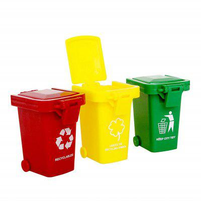 Kids Push Toy Vehicles Garbage Truck's Trash Cans 3PCS