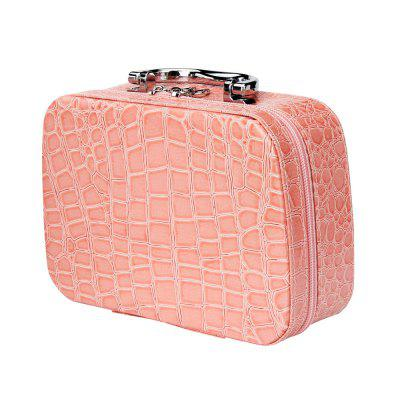 Stone Pattern Portable Cosmetic Bag Large Capacity Makeup Case