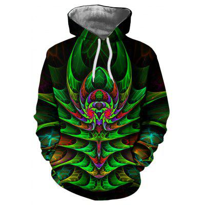 Фото - Autumn New Fashion 3D Printing Personality Hooded Sweatshirt pmsix 2018 new autumn