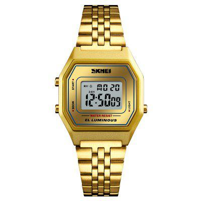 SKMEI Men's Sport Waterproof Golden Stainless Steel Fashion Digital Wrist Watch