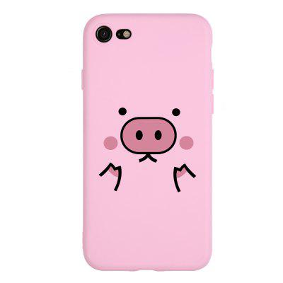 Cute Piggy Candy Pink Soft Phone Case for iPhone 7 for iphone 7 4 7 glittery lips leather coated hard shell case pink