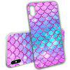 Mermaid Fish Scale Series Soft Phone Case for iPhone X - MULTI-A