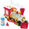 Creative Bubble Blowing Battery Powered Locomotive Music Train Toy with Light - RED