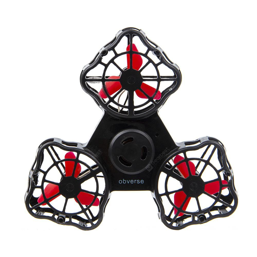 Gyro Stress Relief Toy Flying Fidget Spinner - BLACK