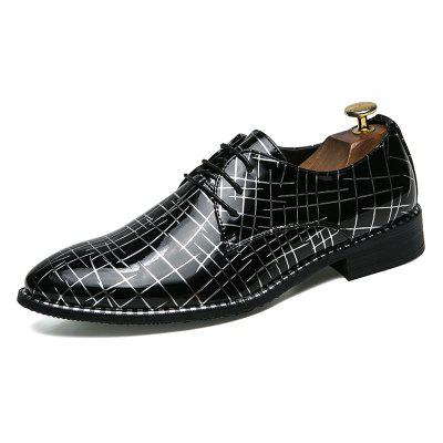 Men Lace-Up Oxford Classic Leather Casual Business Shoes spring new arrival fashion lace up shoes men casual shoes white