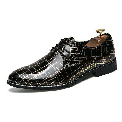 Muži Oxford Classic Leather Casual Business Shoes