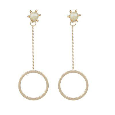 Fashion Two Color Round Bead Earrings