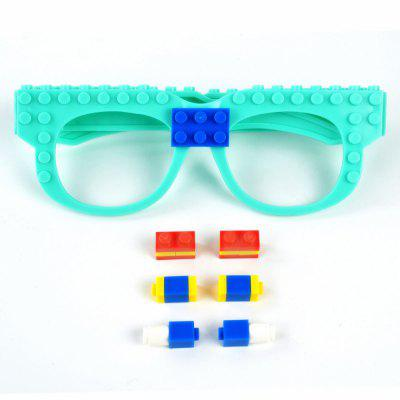 Creative DIY Building Blocks Glasses Toy bela 10547 friends heartlake grand hotel andrea olivia stephanie building blocks bricks toy compatible with friends 41101