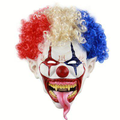 Halloween Explosion Head Big Mouth Long Tongue Clown Mask monster printed halloween decor head mask page 8