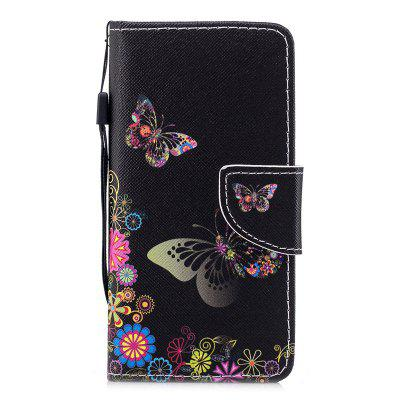 Luxury Style PU Leather Flip Wallet Case Cover for iPhone 7 / 8 wallet leather case for iphone 7 black