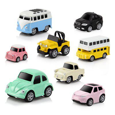 1:32 Alloy Pull Back Diecast Toy Vehicles Model Small Mini Car 8pcs maisto bburago 1 18 fiat 500l retro classic car diecast model car toy new in box free shipping 12035