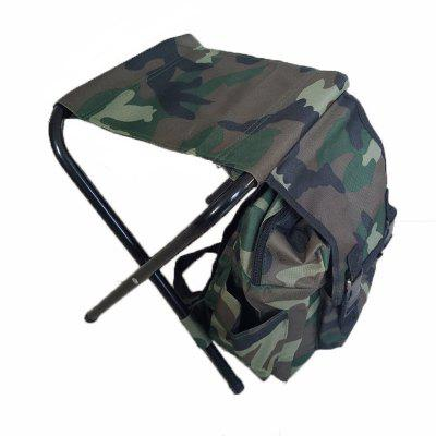 Outdoor Multi-function Mountaineering Bag Camping Folding Portable Fishing Stool silla plegable wicker rattan furniture outdoor tables and chairs folding mazha small stool bench portable fishing chair leisure