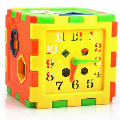 Shape Intelligence Box Children Cognition Blocks Puzzle Assembled Toys 13 holes intelligence box for shape sorter cognitive and matching wooden building blocks baby kids children eductional wood toys