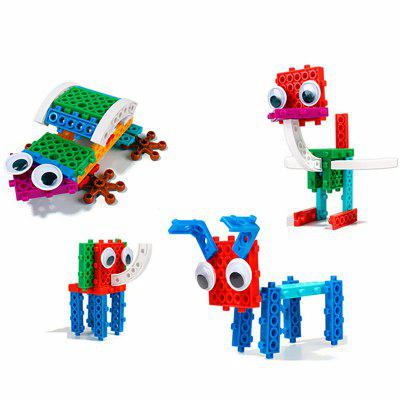 4 in 1 Animals Building Block Kit Toys for Boys Girls 809pcs elves skyra s mysterious sky castle model building block toys enlighten 10415 gift for children compatible legoe 41708