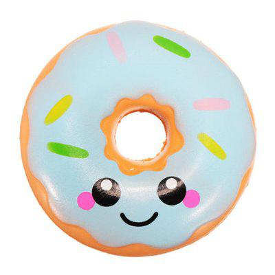 Jumbo Squishy Kawaii Smiling Face Donut Slowly Rising Decompression Toy jumbo squishy bread decompression toy shop simulation